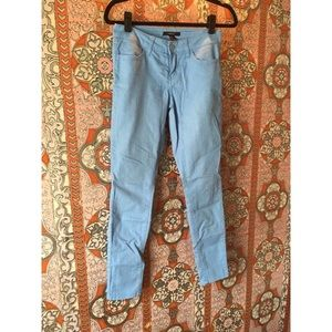 Sky blue Forever 21 skinny jeans